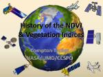 history of the ndvi vegetation indices
