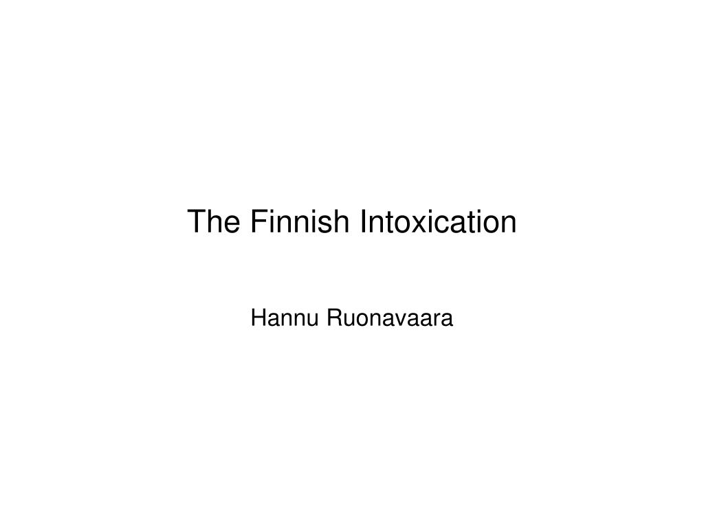 the finnish intoxication l.