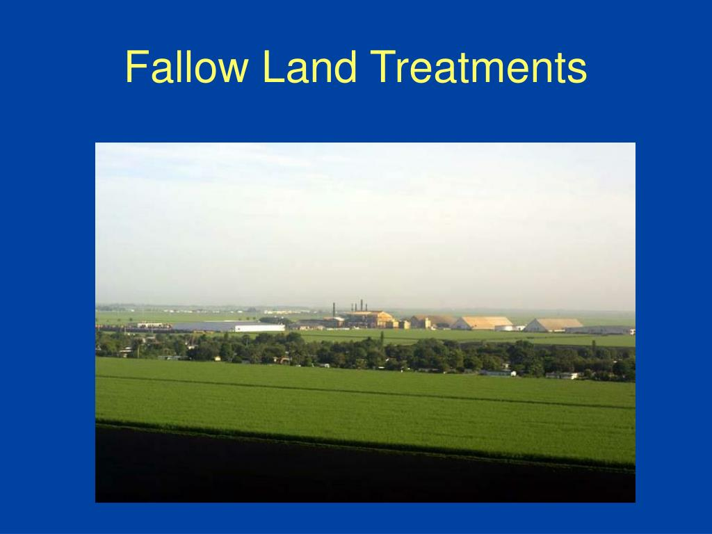 Fallow Land Treatments