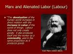 marx and alienated labor labour