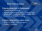 brief interventions11