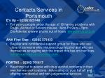 contacts services in portsmouth