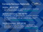 contacts services nationally