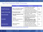 top five features emc promotes