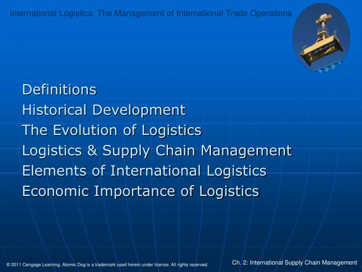 evolution of supply chain management ppt