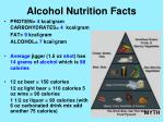 alcohol nutrition facts