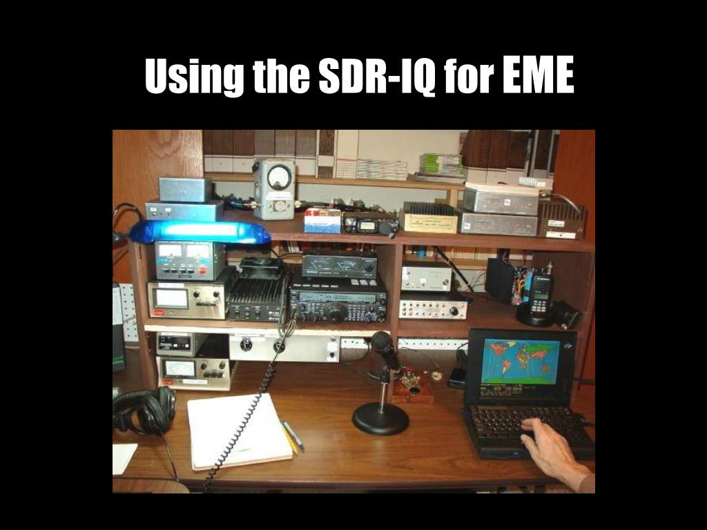 using the sdr iq for eme l.