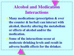 alcohol and medication interactions