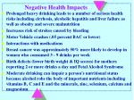 negative health impacts