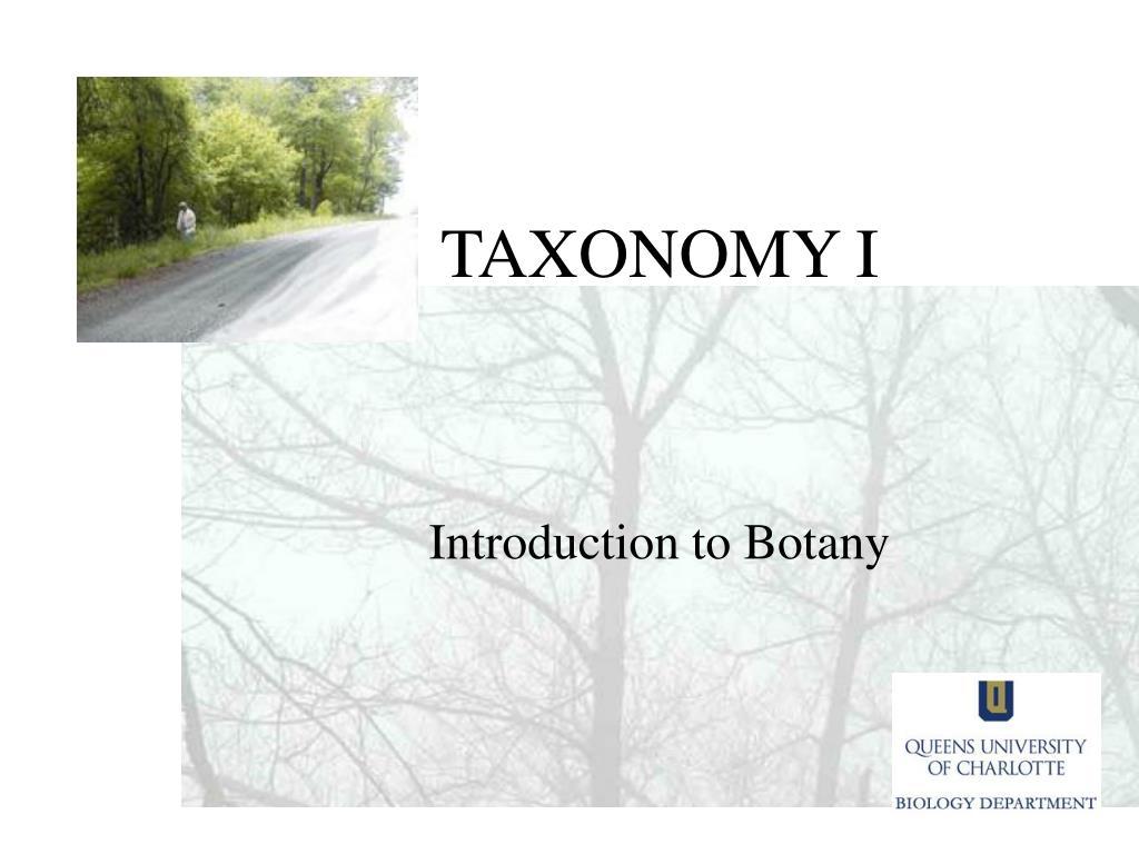 taxonomy i l.