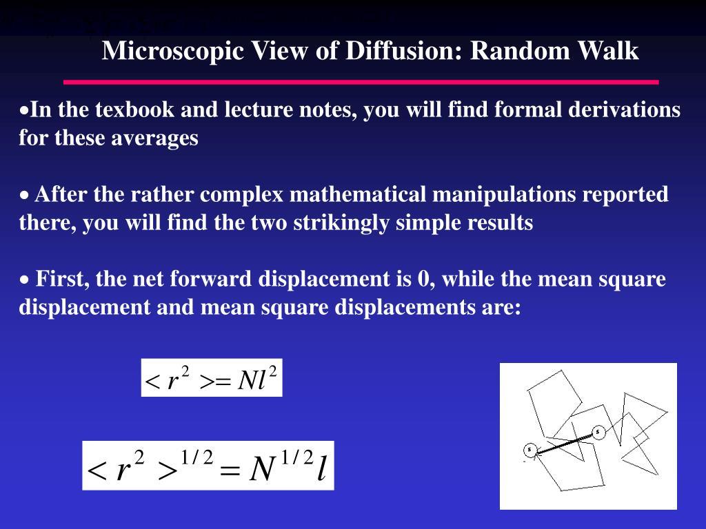 Microscopic View of Diffusion: Random Walk