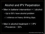 alcohol and ipv perpetration