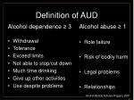 definition of aud