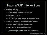trauma sud interventions