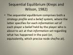 sequential equilibrium kreps and wilson 1982