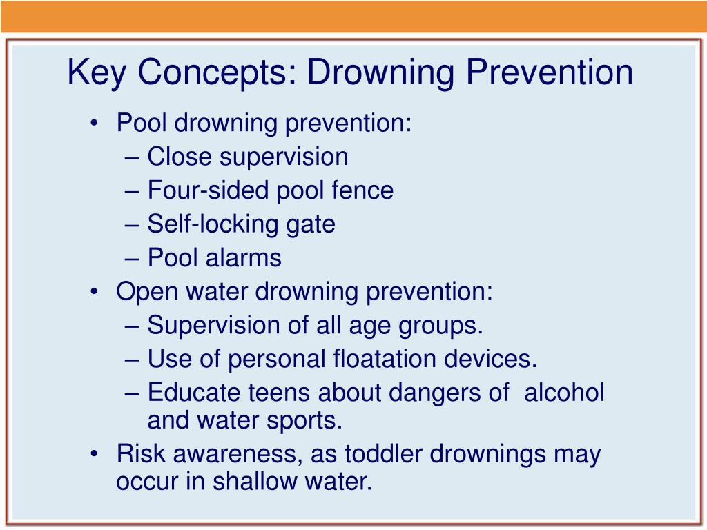 Key Concepts: Drowning Prevention