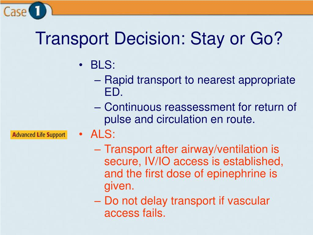Transport Decision: Stay or Go?