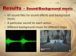 results sound background music