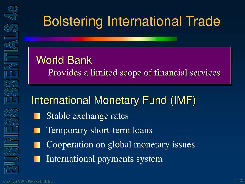 Bolstering International Trade