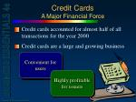 credit cards a major financial force
