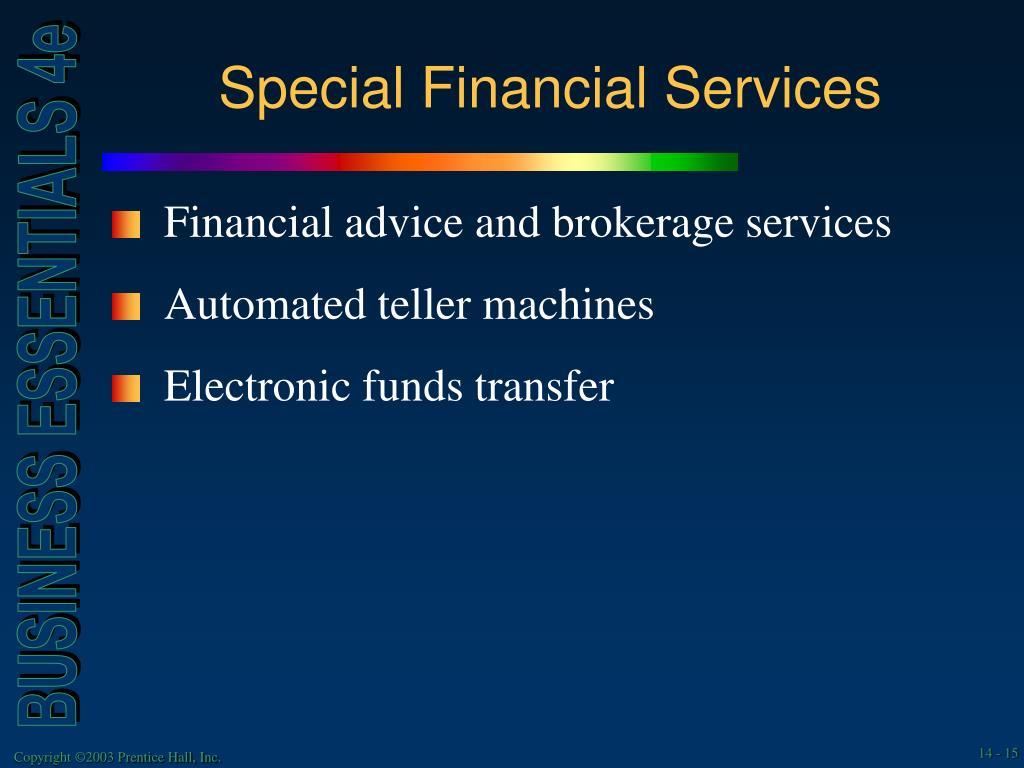 Special Financial Services