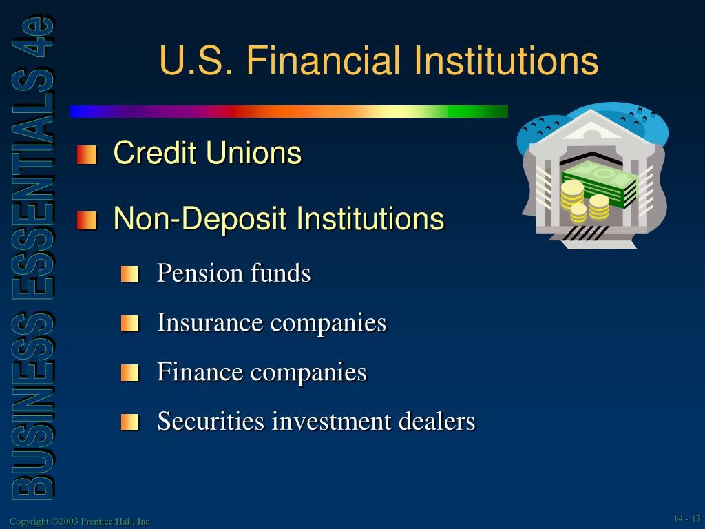 U.S. Financial Institutions
