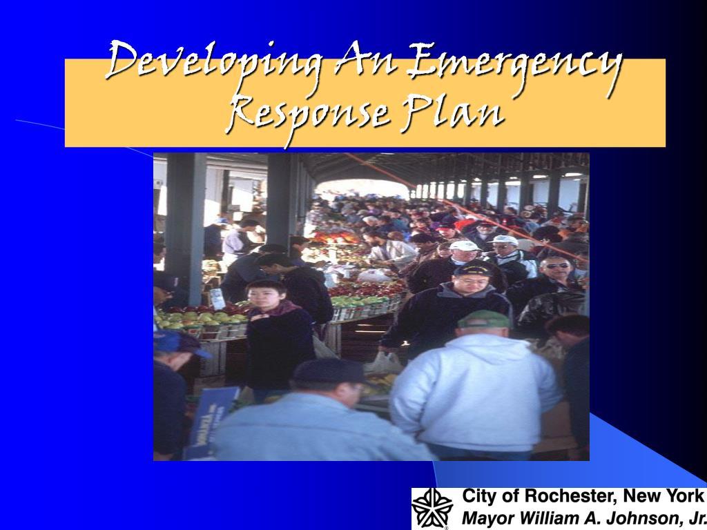 Developing An Emergency Response Plan