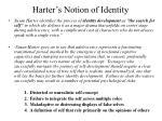 harter s notion of identity
