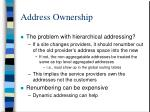 address ownership