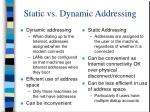 static vs dynamic addressing
