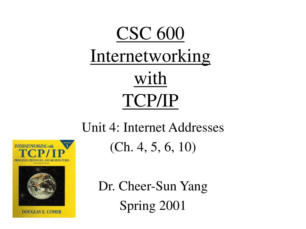 csc 600 internetworking with tcp ip l.