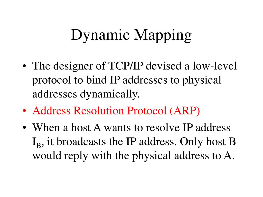 Dynamic Mapping