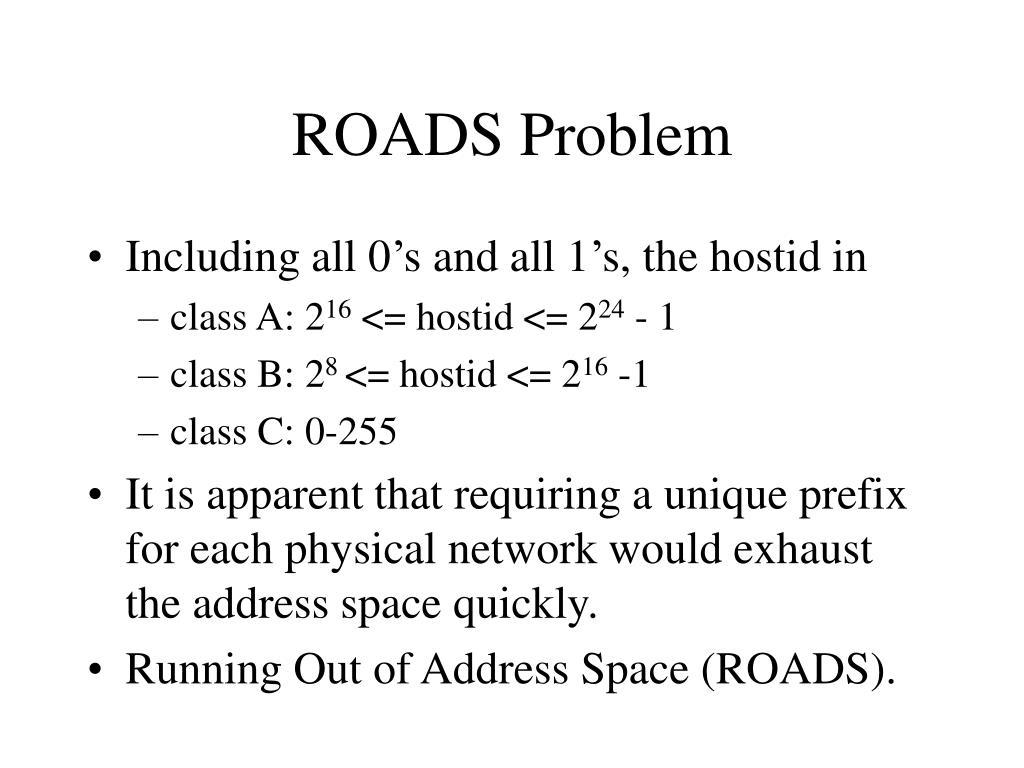ROADS Problem