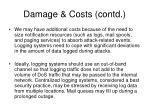 damage costs contd