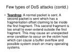 few types of dos attacks contd5