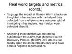 real world targets and metrics contd19