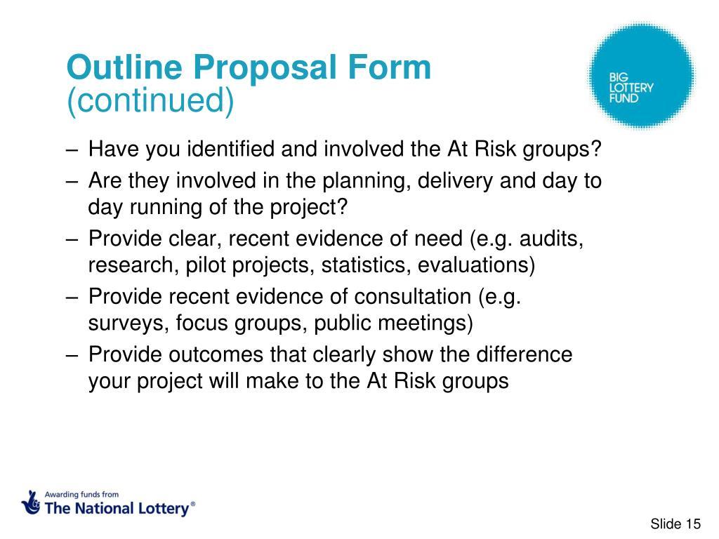 Outline Proposal Form
