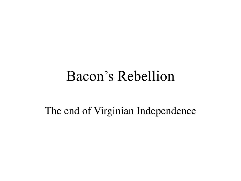 bacon s rebellion l.