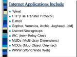 internet applications include