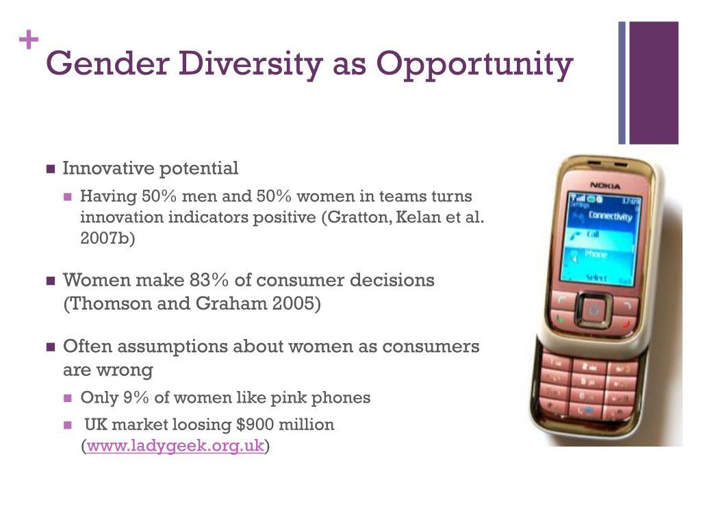 Gender Diversity as Opportunity