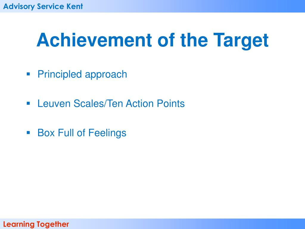 Achievement of the Target