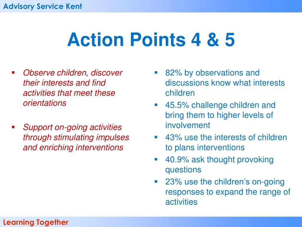 Observe children, discover their interests and find activities that meet these orientations
