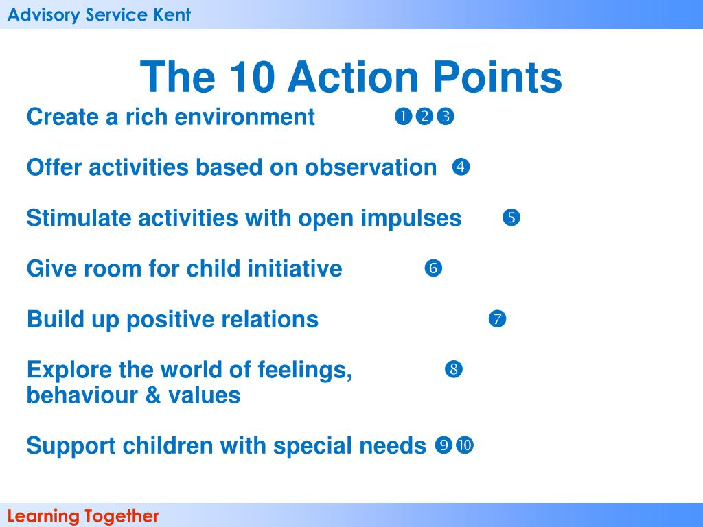 The 10 Action Points