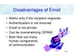 disadvantages of email