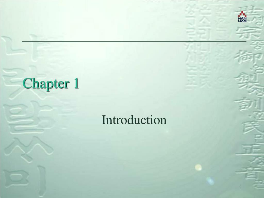 chapter 1 l.