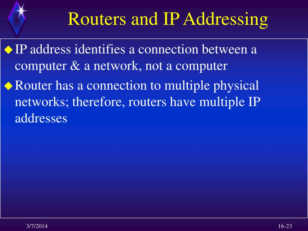 Routers and IP Addressing
