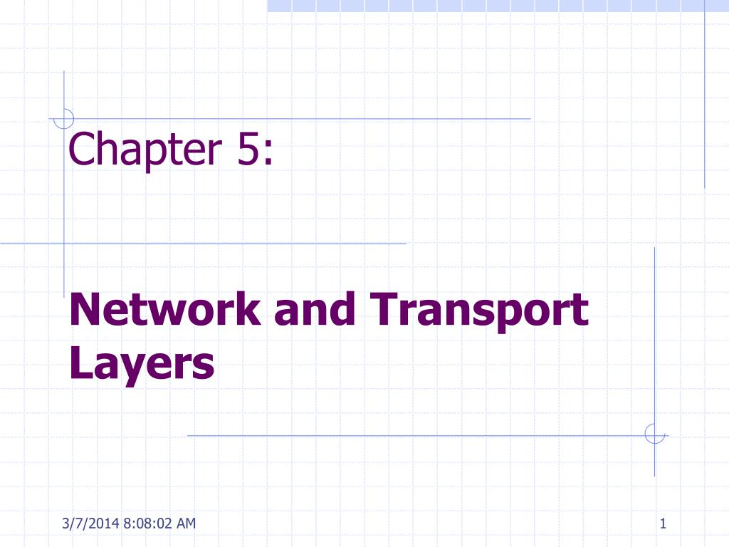 chapter 5 network and transport layers l.