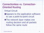 connectionless vs connection oriented routing57