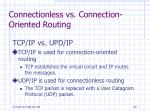 connectionless vs connection oriented routing58