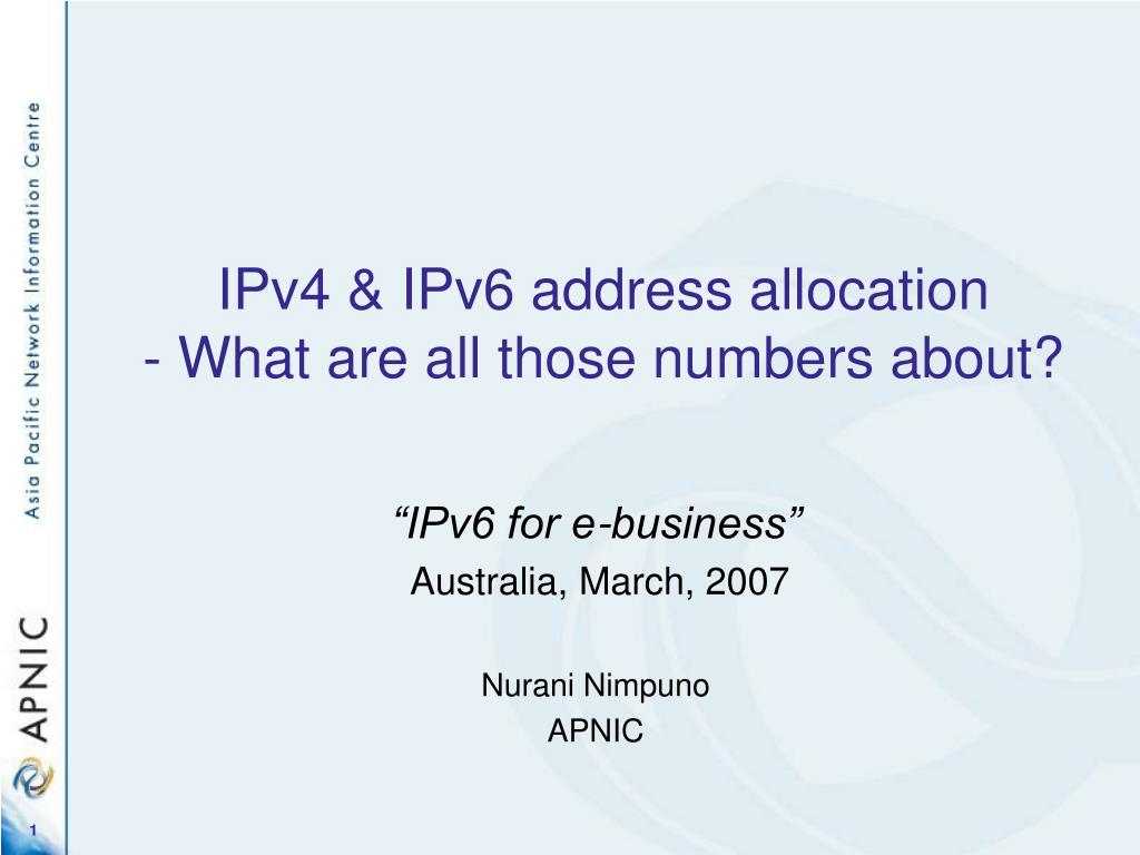ipv4 ipv6 address allocation what are all those numbers about l.